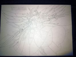 Erza Scarlet, Titania - Fairy Tail, Unfinished by mishoka303