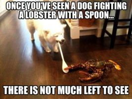 Dog/Lobster by fredrickburn