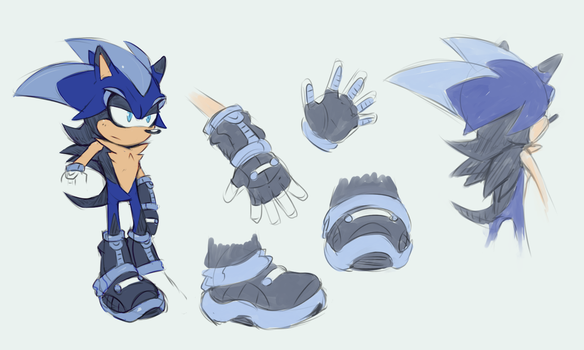 Silence the Hedgehog -  Reference Sheet by Cylent-Nite