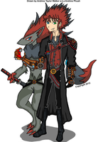 Pokemon Trainer Zane Nagata and Zoroark by Pyro-Jock