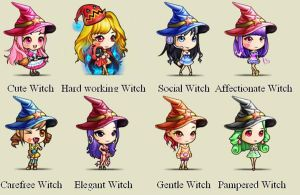 Different Witches~~~ Chibi design~~~ by SeitoAnna