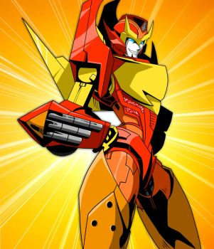 Hot Rodimus by KayraItzayana