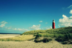 Texel beach and tower by VlinderButterfly