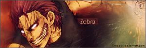 Toriko- Zebra Signature by Crocbox