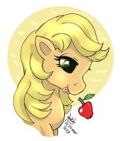 My little pony G1 Applejack by Joakaha