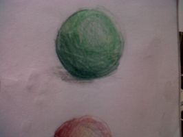 Green ball by Melissatat
