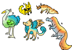 Adoptables- CLOSED by ClamAdoptables