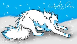 Snowy Fox thing by Joava