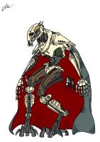 General Grievous - coloured by EUAN-THE-ECHIDHOG