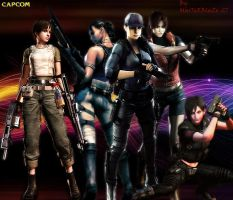 RE5 Mercenaries-Female Reunion by Sephirothic7