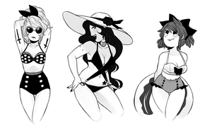 Summer ladies by MaryLittleRose