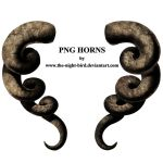 PNG Horns by the-night-bird