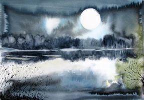 A night I've been painting all night... by BlueCaroline
