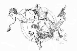 Boba Fett Print Pencils by Dave-Acosta