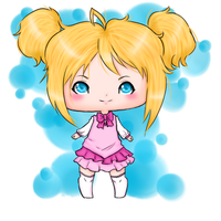 Little chibi girl by FawnGoggler