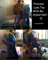 Princess Luna Toy With Restyled Hair by KittyKatz547