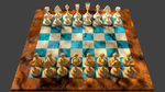 3d Chess Board Design, black player view by 8DFineArt