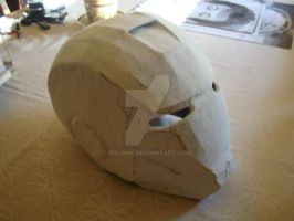 Cardboard Iron Man Helmet (First Attempt) by Polonx