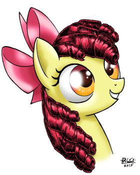 Apple Bloom Portrait by Razia
