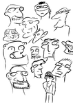 Doodly Faces by shareyourworldwide