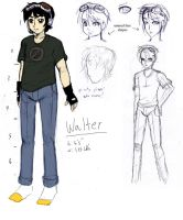 Walter concept sketches by Mole-Chan