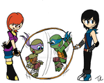 TMNT Next Generation - Playing Together by twinscover