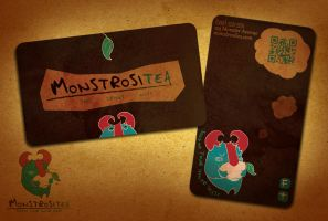Monstrositea Business Card by Crown-Heart