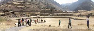 Chavin Temple - Panoramic View by bbmbbf