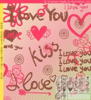 Love You Brushes by Coby17