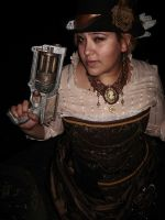 steampunk dress: out and about by ToddryElliott