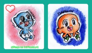 Baby Gumball and baby Darwin by SfinJe