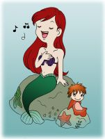 Redheads: Ariel and Ponyo by Jien-chan