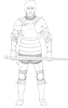Knight Lineart by ranits123