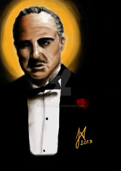 The GodFather- Don Vito Corleone by JohnWave