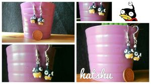 Nibbler Earrings by hatshu