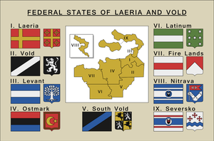 Federal states of Laeria and Vold by SoaringAven