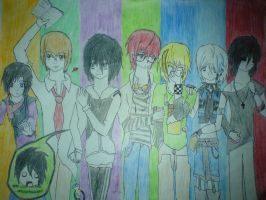 Gleek Note: The Gang by iAmMasterShin