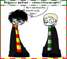 draco and harry by irrr