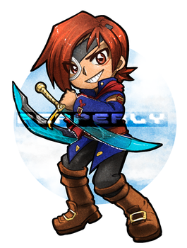 [FA: Skies of Arcadia] Vyse by Pepperly