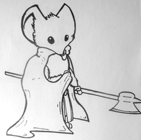 """Mouse Guard"" Gwendolyn WIP by MeecesMikMouse"