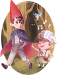 Over the garden wall by Silent-Feather
