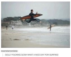 Surfing. by TheFunnyAmerican