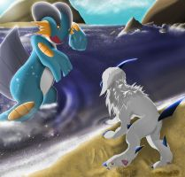 Request: Absol and Swampert by Meraence