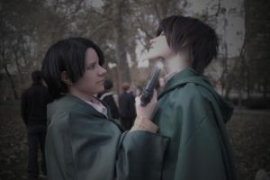 Rivaille/Levi and Eren [Attack on Titan] by JuubeiChan