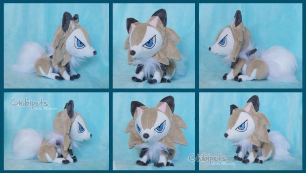Pokedoll Custom Plush Lycanroc Midday by Chibi-pets