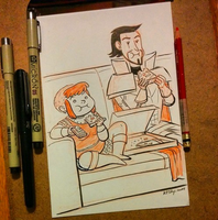 Inktober 02 Nimona by ktshy