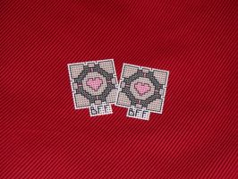 companion cube bff pins by eevilkat