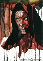 Darth maul Watercolor fan art by Jess-needs-username