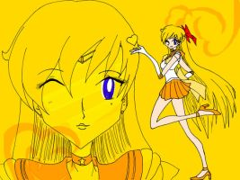 SM - Sailor Venus - COLOURED by wunleebuxton