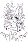 Linear: the flower's crown for her by ItalianDream